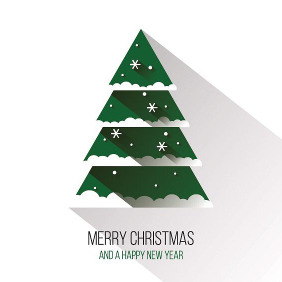 Flat Christmas Tree - Free vector #205243