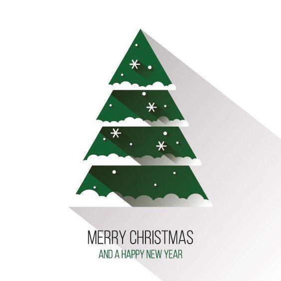 Árvore de Natal plana - Free vector #205243