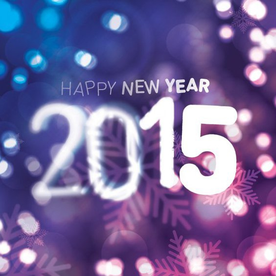 Heureuse nouvelle 2015 - vector gratuit #205253