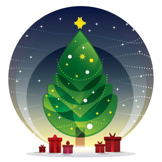 Weihnachtsnacht - Free vector #205283
