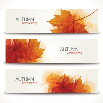 Minimal Autumn Banners - Free vector #205333
