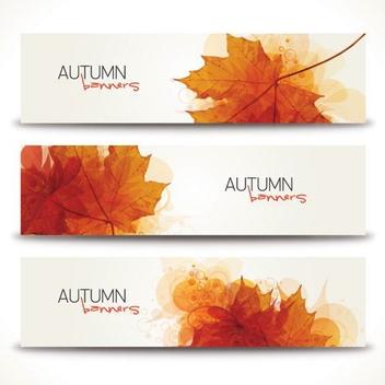 Minimal Autumn Banners - vector gratuit #205333