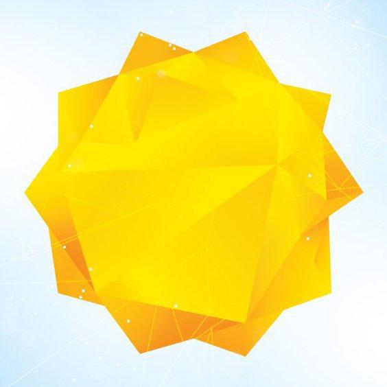 Triangular Sun - Free vector #205523