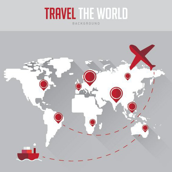 Travel Background - Free vector #205553