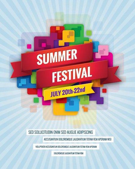 Cartelera del Festival de verano - vector #205563 gratis