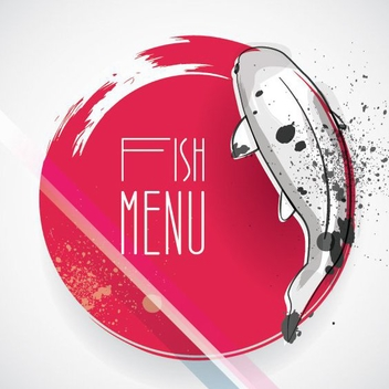 Fish Menu - Free vector #205583