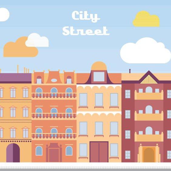 rue de la ville - vector gratuit #205693