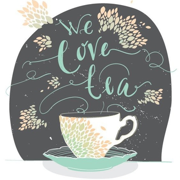 We Love Tea - vector gratuit #205793