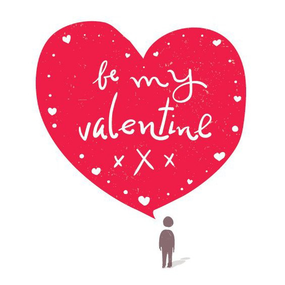 Be My Valentine Card - Free vector #205853