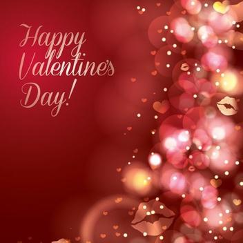 Sparkling Valentine's Card - Kostenloses vector #205863
