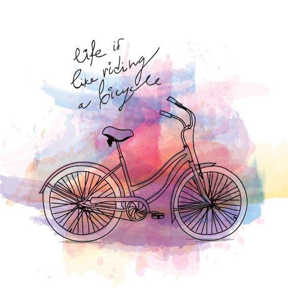 Balade à vélo - vector gratuit #205923