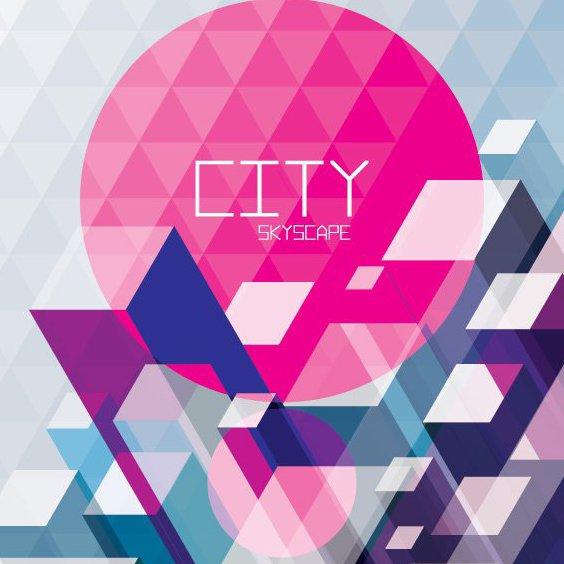 Картина, изображающая небо города - бесплатный vector #205943