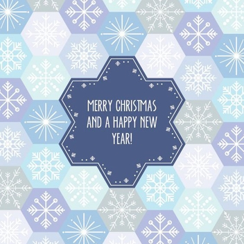 Snowflake Pattern Card - Free vector #206033