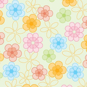 Bright Flower Background - vector #206063 gratis
