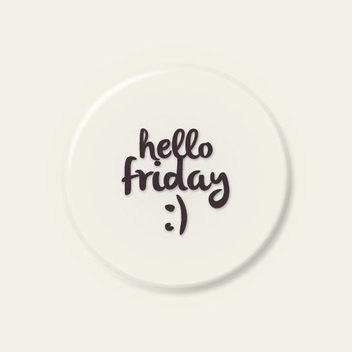 Hello Friday - Free vector #206223