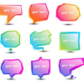Gradient Speech Bubbles - vector gratuit #206253