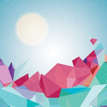 Geometric Landscape - Free vector #206373