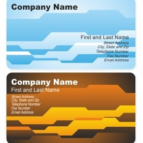 Corporate Business Card Template - Free vector #206383
