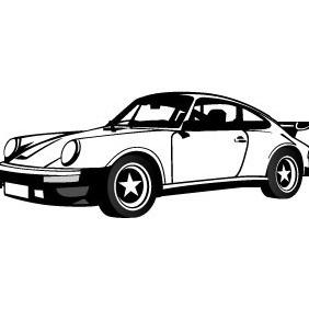 Porsche Car Vector - Free vector #206403