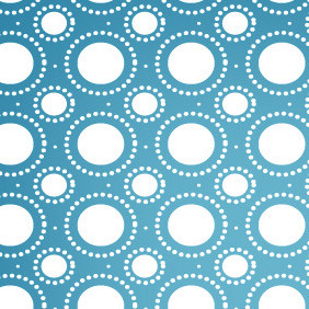 Abstract Dotted Circle Seamless Vector Pattern - Free vector #206473