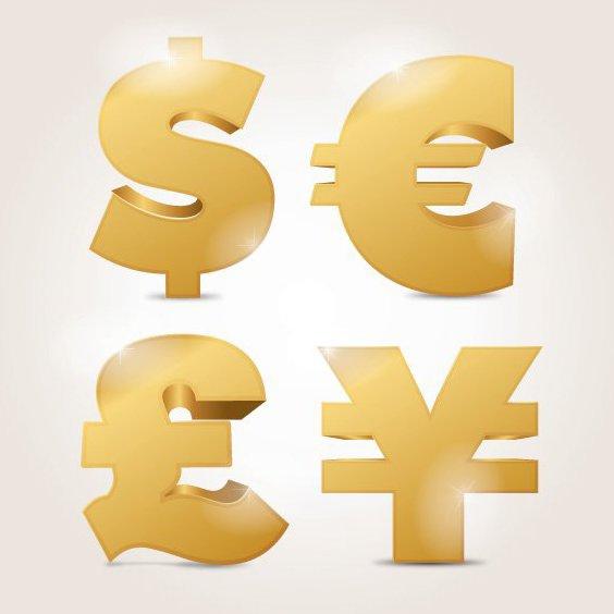 Währungssymbole - Kostenloses vector #206483