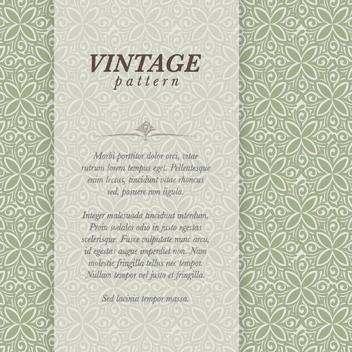 Vintage Pattern - vector gratuit #206983