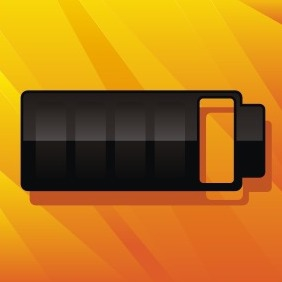 Black Battery - vector gratuit #207173