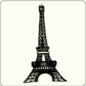 Free Vector Eiffel Tower - vector gratuit #207313