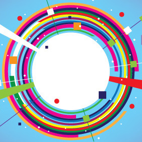 Abstract Circle Colorful Banner - Free vector #207323
