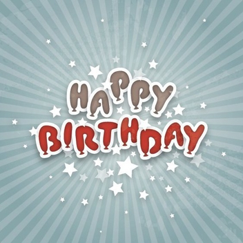 Happy Birthday Background - Kostenloses vector #207383