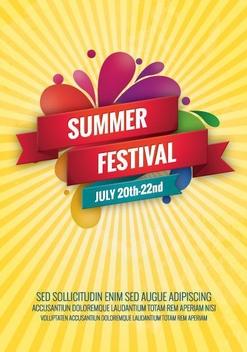 Summer Festival - бесплатный vector #207433