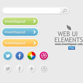 Web UI Elements - vector gratuit #207443