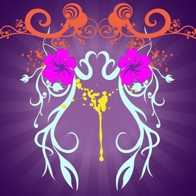 Plants Scroll Composition - vector #207583 gratis