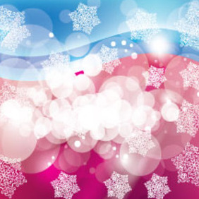 Enjoyable Blue Pink Abstract Free Vector - vector gratuit #207653