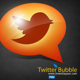 Twitter Speech Bubble - Free vector #207703