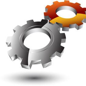 Glossy 3d Gear Logo - vector #207743 gratis