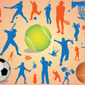 Sport Silhouettes - Free vector #207773