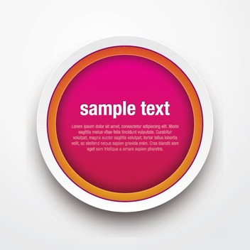 Colorful Button - vector gratuit #208073