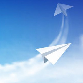 Paper Airplanes - vector gratuit #208093