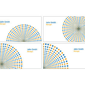 Business Cards Vector Templates Set 2 - Free vector #208153
