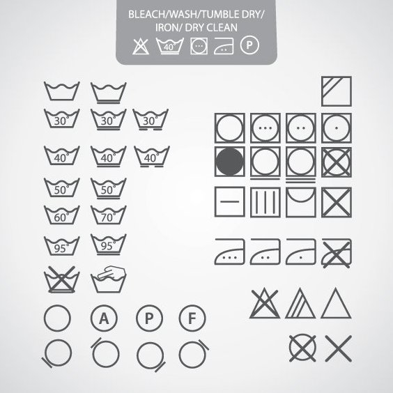 Dry Clean Icons - Free vector #208163