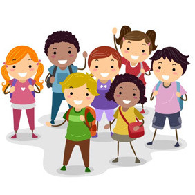 Schoolchildren Group - vector gratuit #208183