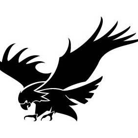 Eagle Attacking Vector Image - Free vector #208233