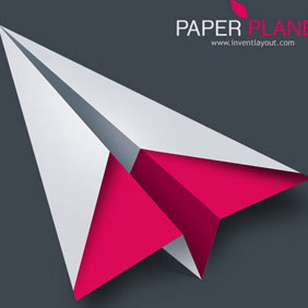 Paper Plane - Free vector #208273