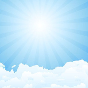 Blue Sky Illustration - Kostenloses vector #208323