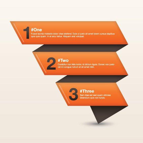 Uno, dos, tres - vector #208343 gratis