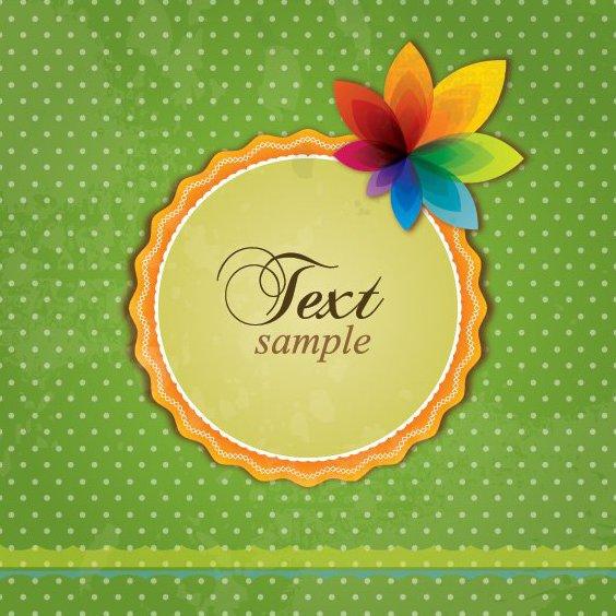 Cartão retrô colorido - Free vector #208403