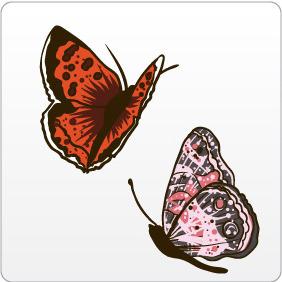 Butterflies 1 - vector gratuit #208493