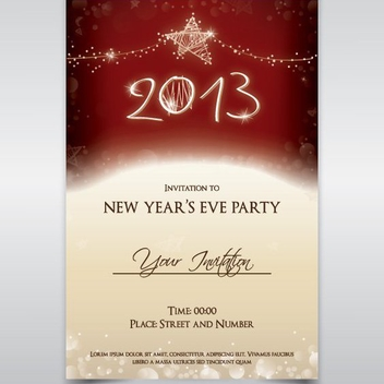 Party Invitation - vector #208623 gratis