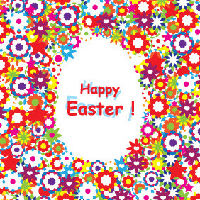 Happy Easter Colorful Background - vector gratuit #208683